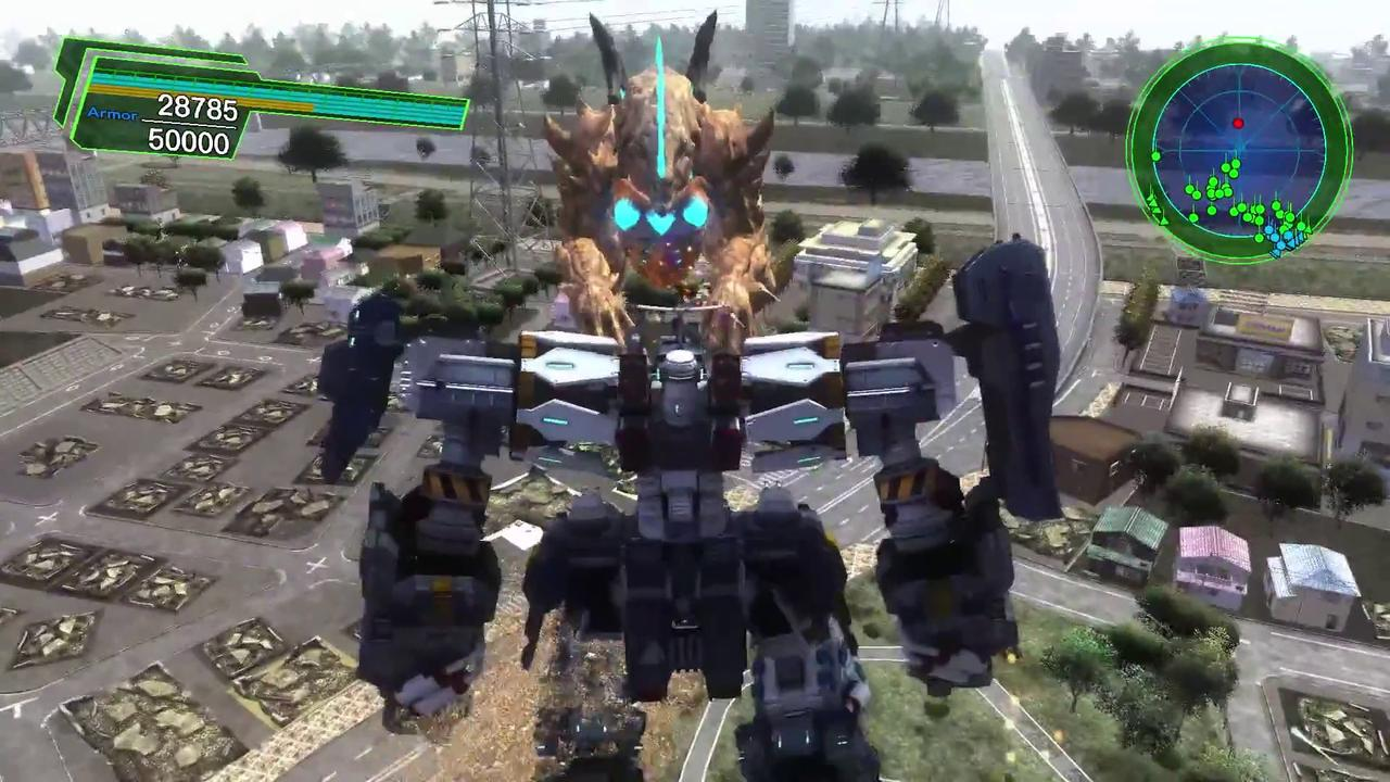 They look impressive, but the showdowns between the EDF mechs and giant creatures are not the game-transcending moments they should be.