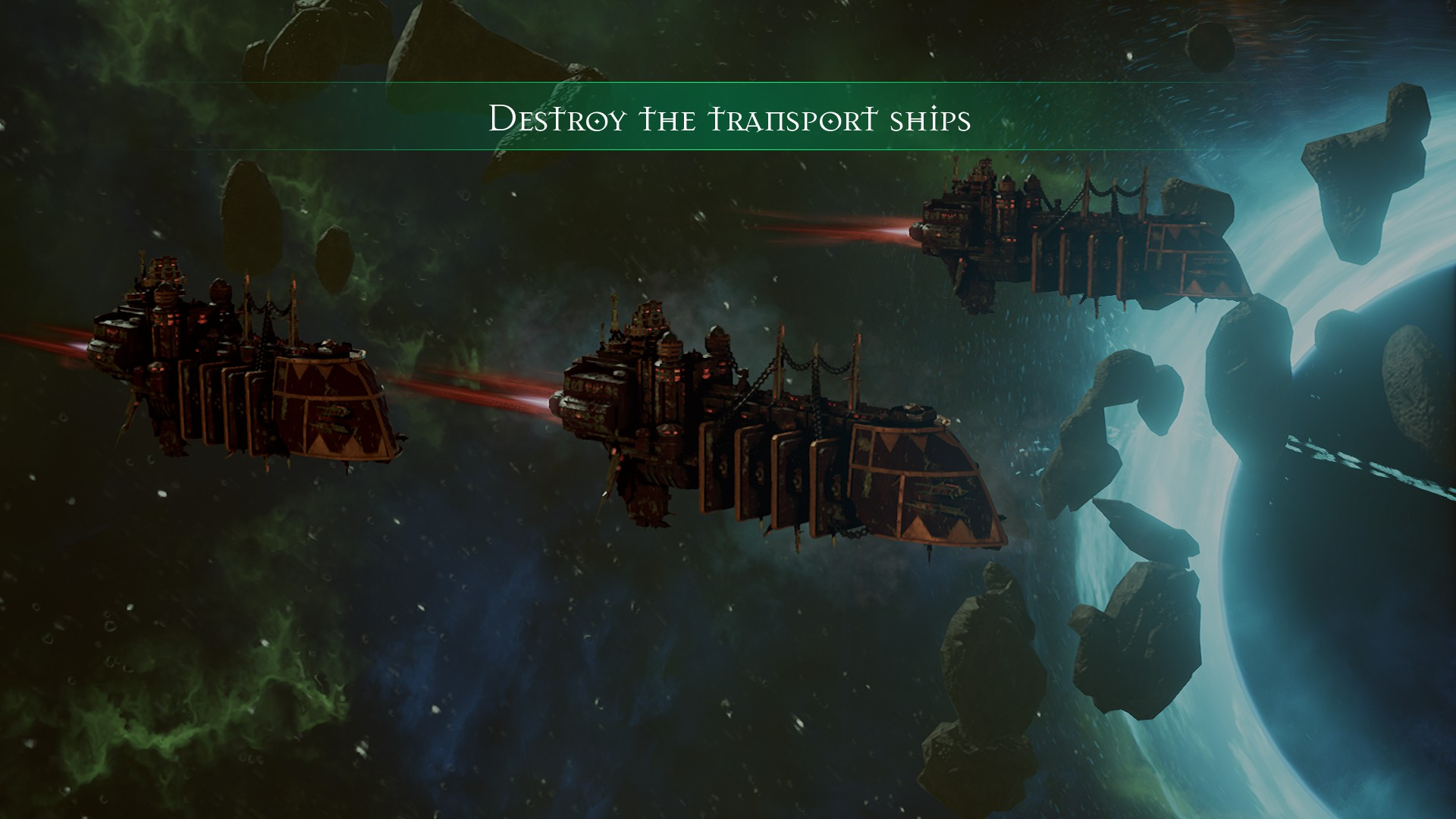 The ships look fantastic – perfectly in keeping with the 40K universe